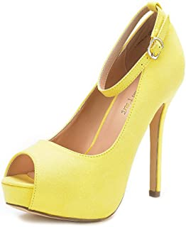 dbc940063a4 Amazon.com: Yellow - Pumps / Shoes: Clothing, Shoes & Jewelry