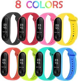 BRone Pulsera para Xiaomi Mi Band 3 / Mi Band 4, Coloridos Impermeable Reemplazo Correas Reloj Silicona Correa para Xiaomi Mi Band 3 Pulsera Silicona Banda para XIAOMI Mi Smart Band 4