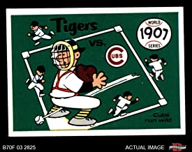 1970 Fleer World Series # 4 1907 Cubs vs. Tigers Cubs/Tigers (Baseball Card) Dean's Cards 4 - VG/EX Cubs/Tigers