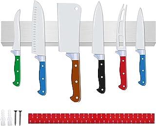 TWBEST Barre Magnétique pour Couteaux,Porte-Couteau MagnéTique,Barre à Couteaux aimantée,Pas de perçage nécessaire,40CM Ba...