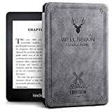 Robustrion Ultra Slim Smart Flip Case Cover for All Amazon Kindle Paperwhite 10th Generation (Not Compatible with Kindle 10th Gen 2019) - Deer Grey