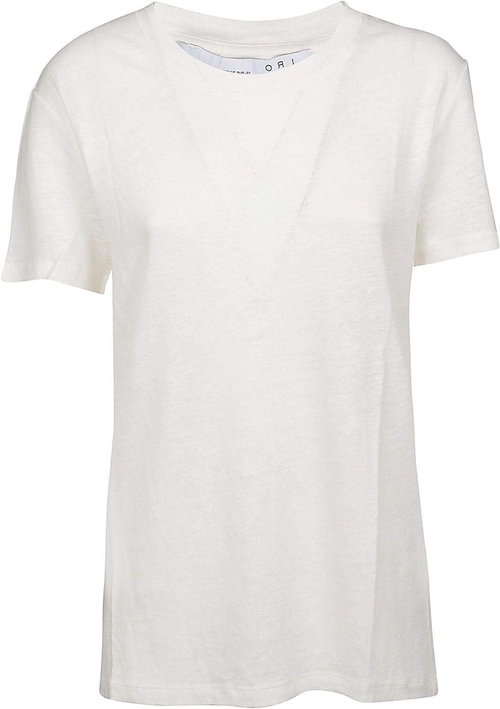 Iro Women's WF19LUCIANAECR01 White Linen TShirt