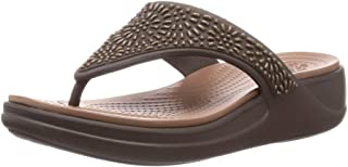 Monterey Diamante Wedge Flip Espresso/Bronze 9
