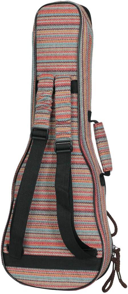 Longteam Bohemian Stripes Ukulele Case 10mm Sponge with Cute Purse Portable Waterproof Ukulele bag Ukulele Backpack Cover Uke gig bag with Accessory Storage Pocket 21//23 In Soprano//Concert, Pink