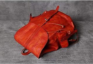 Cartera de cuero Mochila de cuero genuino vintage 15 pulgadas portátil de gran capacidad bolsa de viaje de negocios bolsos...