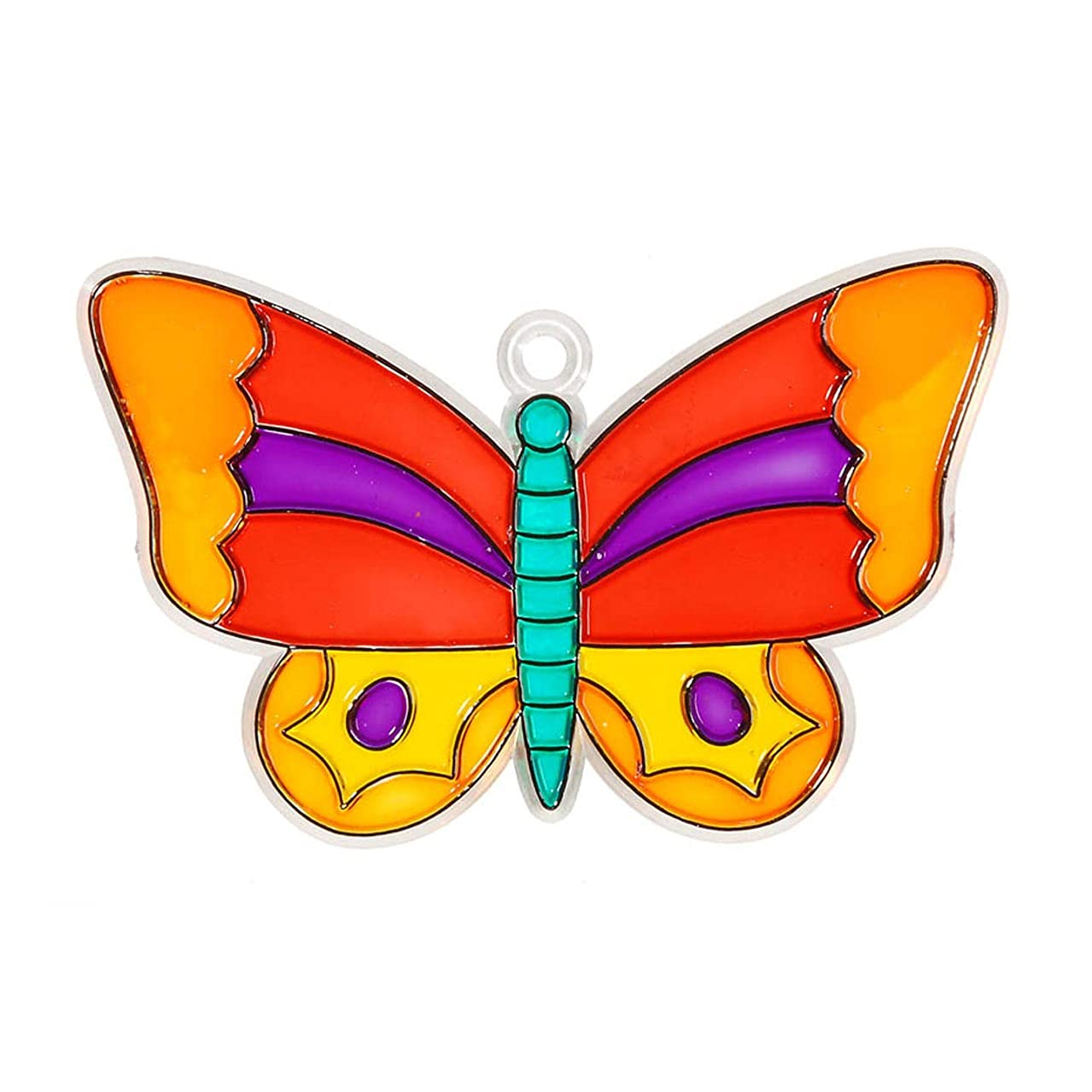 Bulk Buy: Darice Crafts for Kids Suncatcher Butterfly 4 inches (12-Pack) 1024-13