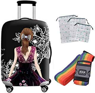 Suitcase Cover Aircraft Checked Baggage Anti-Theft Protective Cover Polyester Thick Wear-Resistant Travel Case Waterproof ...