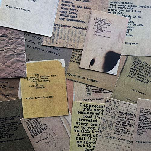 BLOUR Vintage brievenbus, machine om te schrijven kraftpapier, scrapbooking sticker, decoratieve stickers, doe-het-zelf fotoalbum, knutselen, verpakking van 29 stuks