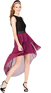 City Studios Juniors' Colorblocked High-Low Dress