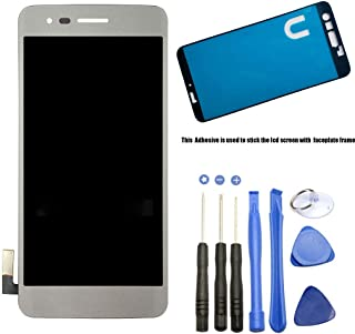 Eaglewireless Compatible LCD Display Screen Touch Digitizer Full Assembly Replacement with Tools for LG Aristo M210 MS210 / Phoenix 3 K8 2017 5''-Silver