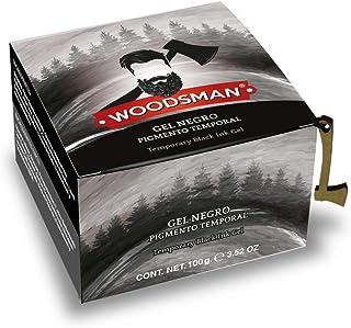 Woodsman - Gel pigmento Negro Temporal para Zona de Barba