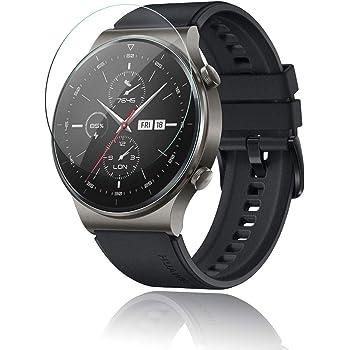Maxku HUAWEI Watch GT2 Pro 玻璃膜 采用日本旭硝子材料 高透光率 薄型 硬度9H 防飛散處理 2.5D 圓邊加工 自動吸附 HUAWEI Watch GT2 Pro 液晶保護膜【2片裝】