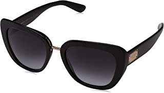 Women's Acetate Woman Square Sunglasses, Black, 53 mm