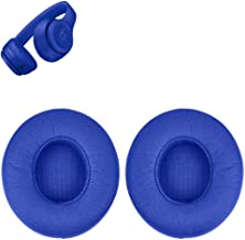 Solo 3 Earpads Replacement Ear Pads Cushions Muffs Repair Parts Compatible with Beats Solo 3 Solo 2 Wireless On Ear Headphones. (Blue)