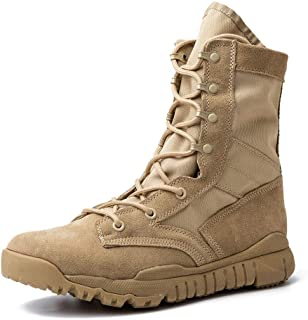 IODSON 7inch Tactical Combat Boots, Lightweight Military Boots, Army Ankle Shoes