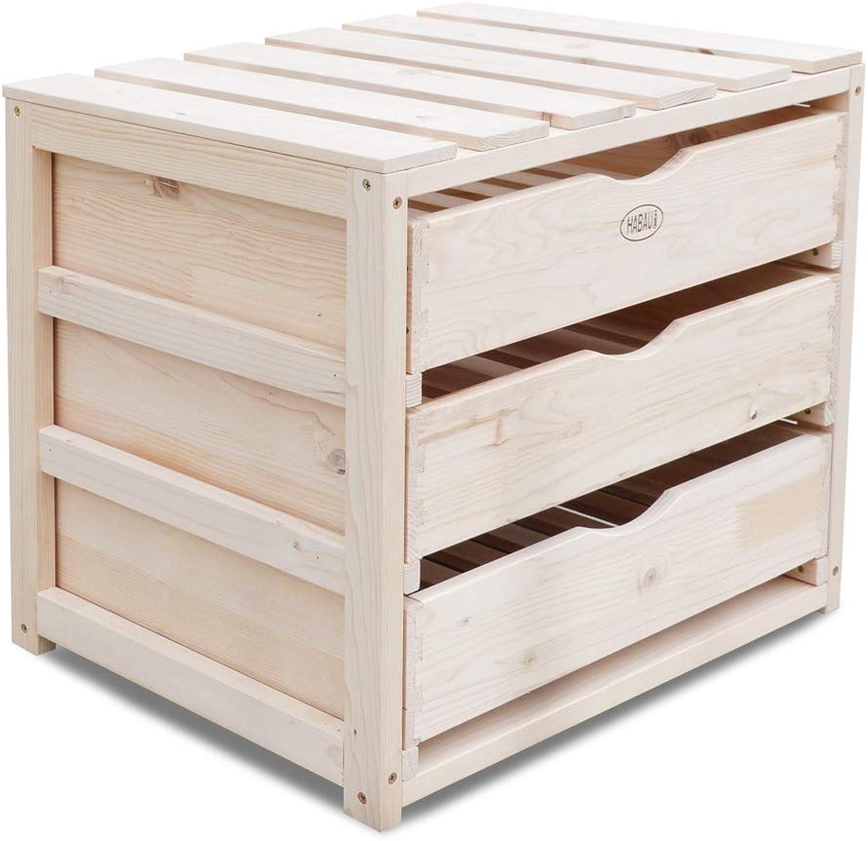 Habau Aufbewahrungskiste, Holz, Natur, 50 x 40 x 45 cm