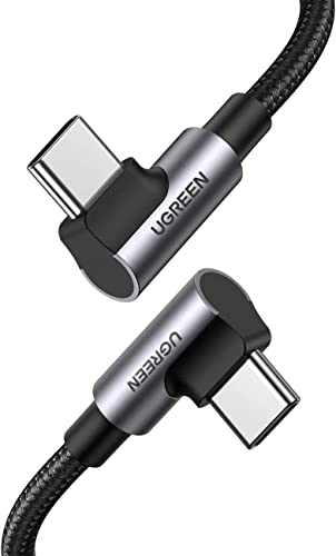 wholesale UGREEN USB-C to popular USB-C Cable 90 Degree 100W PD Fast Charging Cord for Apple MacBook Pro Air Huawei Matebook iPad Pro 2020 Chromebook Pixel 4 XL Samsung online sale Galaxy S20 S10 Note 10 Switch 6FT online