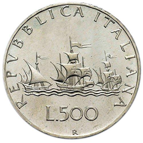 Italia 500 lire Argento'Caravelle' (11 gr. - 29 mm.) varie annate UNA MONETA da collezione Silver Coin