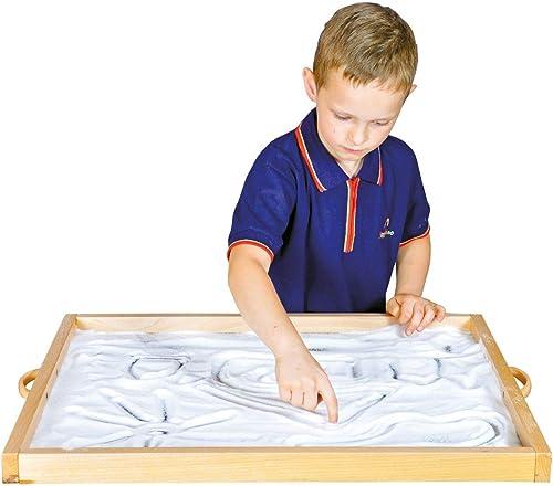 KL-Toys Sandspielbrett   platzSpaßendes Sandmalbrett (Lieferung erfolgt ohne Sand)   Material  Buchenholz + MDF   Ma  69 x 56 x 4 cm