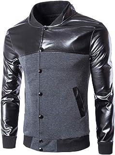 Men Jacket Men Jacket Autumn Winter Fashion Boutique Trend Top Men Casual Office Button Long Sleeve Leather Waterproof Al...