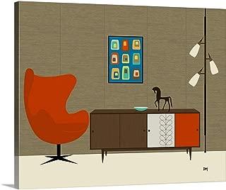 Orla Kiely Cabinet No Cat Canvas Wall Art Print, 20