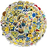 Laptop Stickers 50pcs Pack, US Cartoon Movie Water Bottle Luggage Skateboard Sticker for Kids/Teen, Cool Vinyl Decal for Girl Travel Case Phone Notebook - Minions