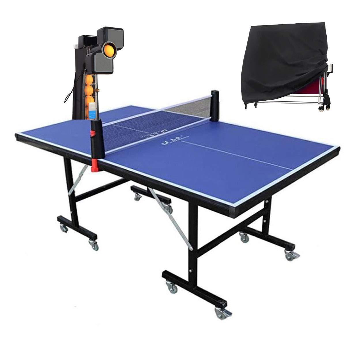Stoge 2020 Mesa De Tenis De Mesa Al Aire Libre con Robot De Ping Pong, Juego