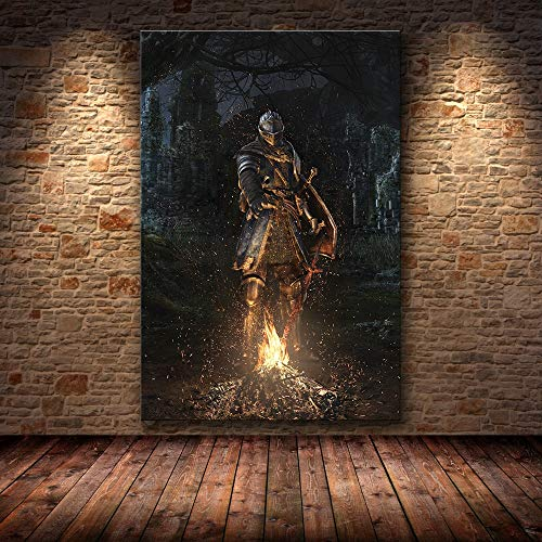 Frameloos The Game Poster Decoration Painting of The Dark Souls on HD Canvas canvas painting art posters and prints <> 60x90cm