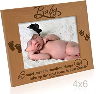 Kate Posh - Baby Picture Frame - Sometimes The Smallest Things take up The Most Room in Your Heart (Winnie The Pooh - 4x6 Horizontal)