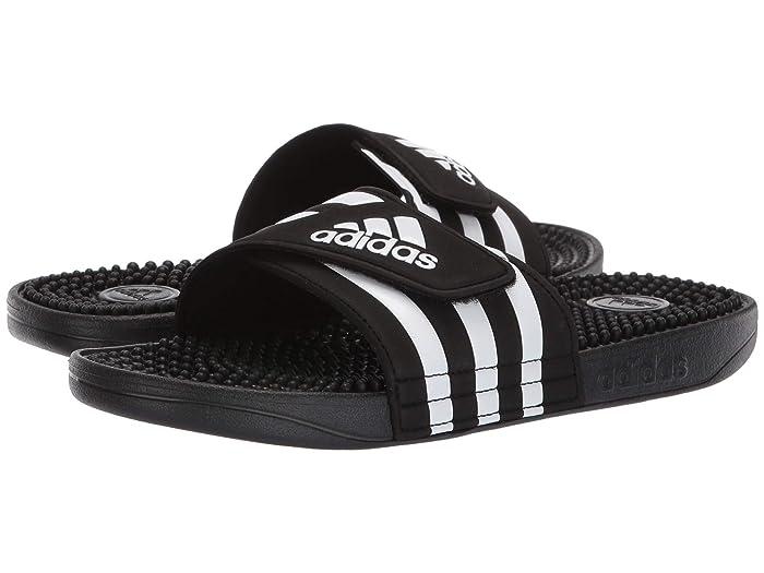 adidas  adissage (Black/White/Black) Womens Sandals
