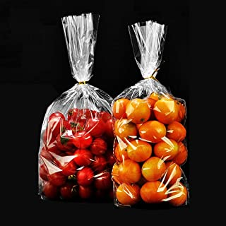 YESON Clear Cello Bags Candy Plastic Party Favor cellophane Treat Bags,Pack of 100 50 PCS transparent