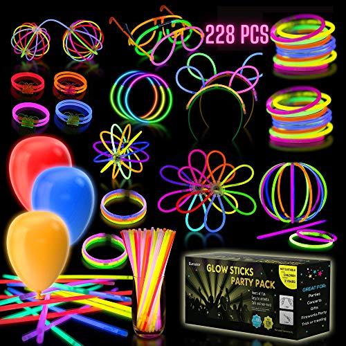 glow stick sets iGlow Glow Sticks Bulk Party Pack Multicolor Non Toxic 228 Pieces Light Stick Set