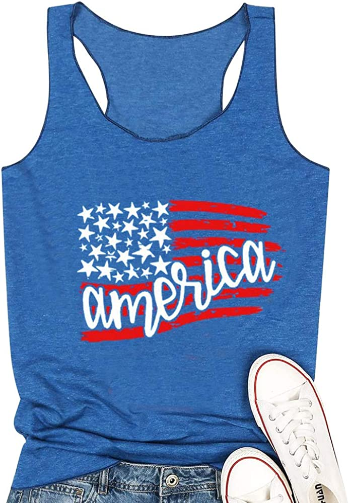 TTwenties American Flag Tank Top Popular shop is the lowest price challenge for July St 4th Boston Mall of Women Stars