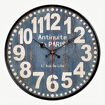 Round Decorative Metal Wall Clock Retro Antique Look Moms Kitchen Bottle Cap 3D Quartz movement 13x13 inches HDC International 05-0073