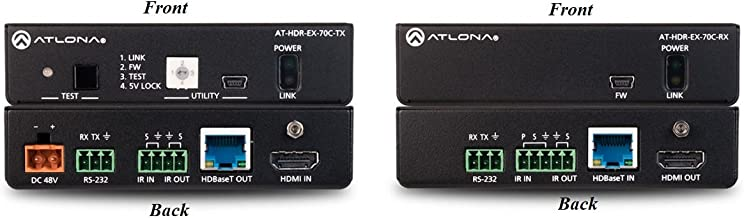 Atlona AT-HDR-EX-70C-KIT 4K HDR HDMI Extender (Transmitter/Receiver) Set with IR/RS-232/PoE