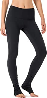 NAVISKIN Women's High Waisted Extra Long Yoga Leggings Over The Heel Leggings Back Pocket