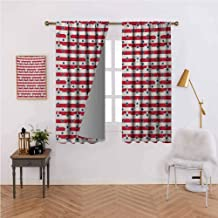 Mannwarehouse USA Novel Curtains Patriotic Pattern Love My Country Continent American Federal Freedom Image 70%-80% Light Shading, 2 Panels,55