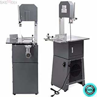 SKEMIDEX-Butcher supplies sausage making supplies electric meat grinders meat grinders for sale meat processing And Professional Meat Cutting Band Saw with Built-in Grinder 3/4 hp motor meatsaw