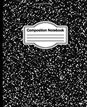 Composition Notebook: Black and White Marble Wide College Ruled Paper Notebook Journal | Wide Blank Lined Workbook for Teens Kids Students Girls for Home School College for Writing Notes (7.5 x 9.25)