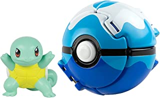 DVNBS Pokémon Lets Go Great Ball and Pokemon Figure Game Action Figure for Children's Toy Set (Squirtle)