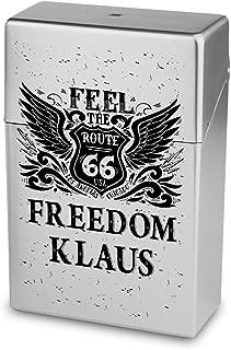 Zigarettenetui Zigarettenschachtel Personalisierte H/ülle mit Design Zigarettenbox Kunststoffbox Zigarettenbox mit Namen Klaus
