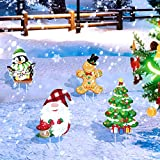 4 Piezas Letreros Estacas de Jardín de Navidad Letreros de Patio Césped al Aire Libre de Navidad...