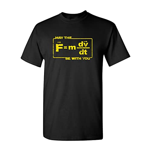 234363f0c3 Thread Science May The Force Star Equation Funny Space Physics Humor Wars  Adult Men s T-