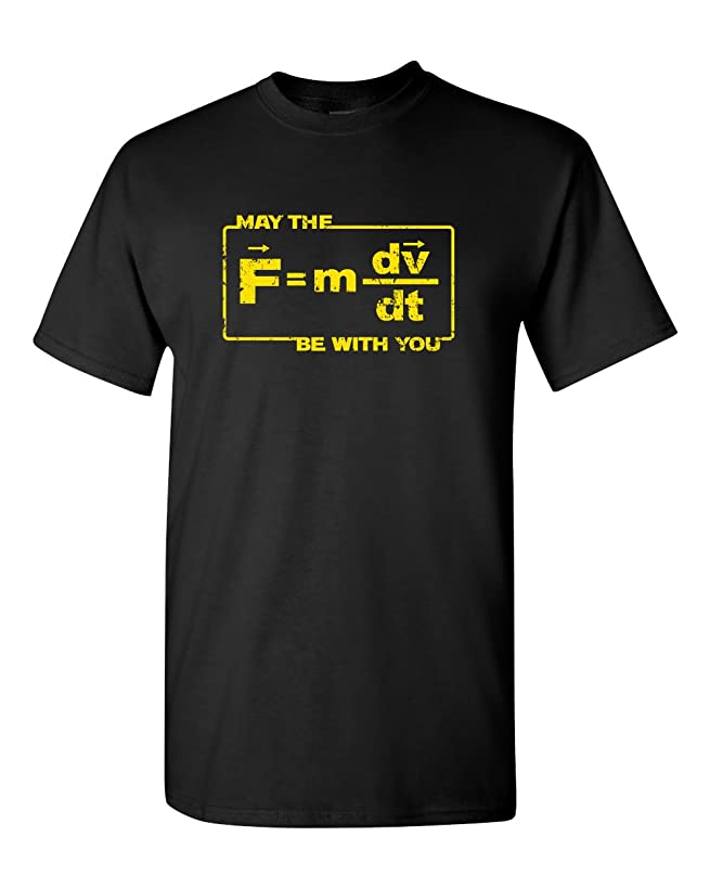 Thread Science May The Force Star Equation Funny Space Physics Humor Wars Adult Men's T-Shirt
