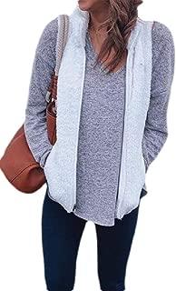 Macondoo Womens Fleece Zipper Autumn Winter Thicken Puffer Vest Down Vest Coat