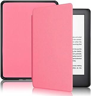Capa Kindle 10ª geração com iluminação embutida – Função Liga/Desliga - Fechamento magnético - Cores (Rosa)