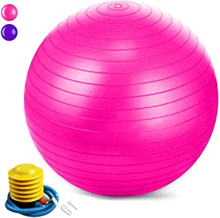 Jasonwell Exercise Ball (55-85cm) Extra Thick Yoga Ball Chair, Anti-Burst Heavy Duty Stability Ball, Birthing Ball with Qu...