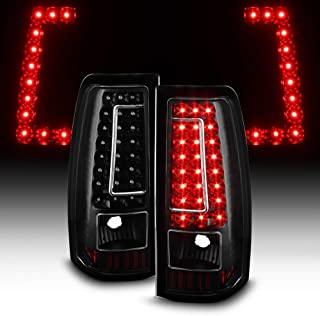 ACANII - For 2003-2006 Chevy Silverado 1500 2500HD 3500 Black LED Tail Lights Brake Lamps Set