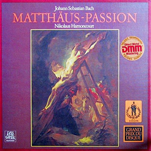 Bach: Matthäus-Passion (Erste Gesamtaufnahme in authentischer Besetzung mit Originalinstrumenten) [Vinyl Schallplatte] [4 LP Box-Set]