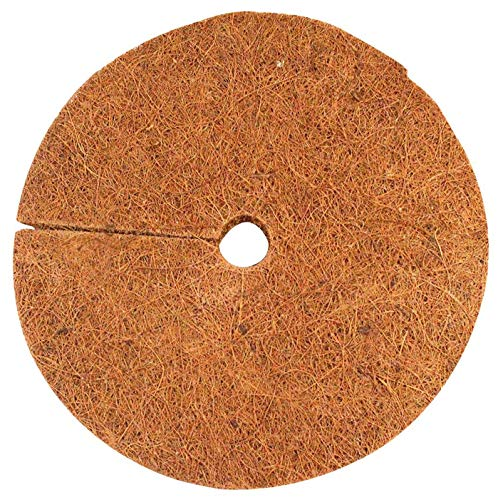 "Envelor Home and Garden Coco Coir Fiber Tree Rings for Weed Control, Plant Cover, Coco Liner Mulch Mat (4"" Dia Pack of 20)"